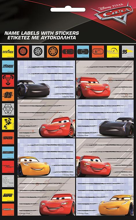 d55072a5a9 ΕΤΙΚΕΤΕΣ ΣΧΟΛΙΚΕΣ FANCY GIM 8ΤΕΜ.HOT STAMPING CARS