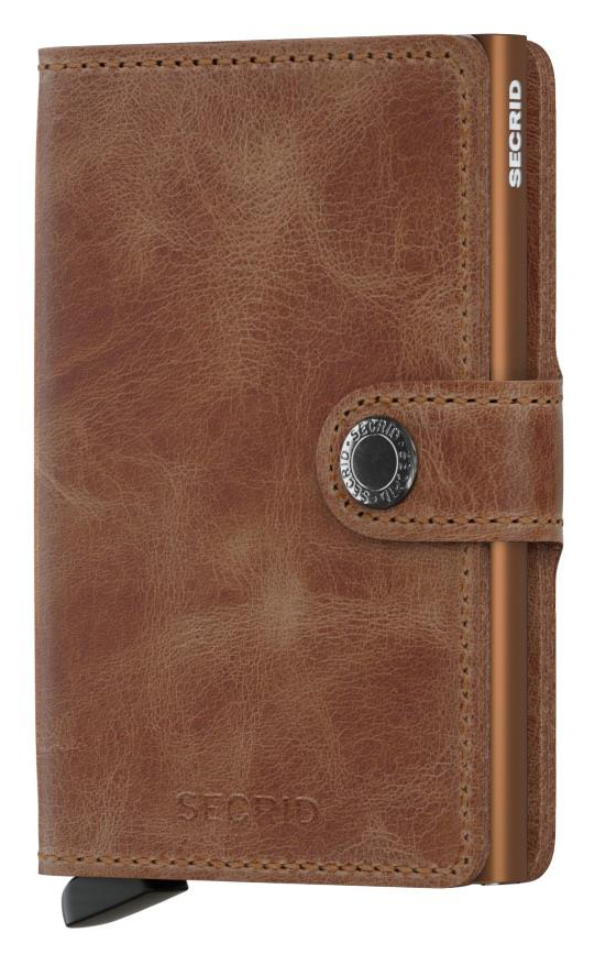 2d1f56c540 ΚΑΡΤΟΘΗΚΗ ΓΙΑ 10 ΚΑΡΤΕΣ LEATHER SECRID RFID SAFE MINI WALLET VINTAGE  COGNAC-RUST