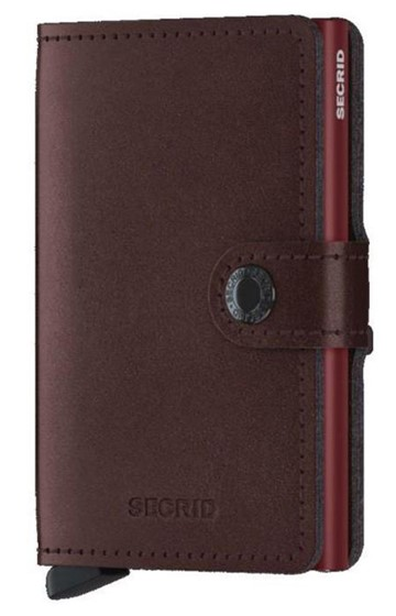 ΚΑΡΤΟΘΗΚΗ ΓΙΑ 10 ΚΑΡΤΕΣ LEATHER SECRID RFID SAFE MINI WALLET METALLIC MORO