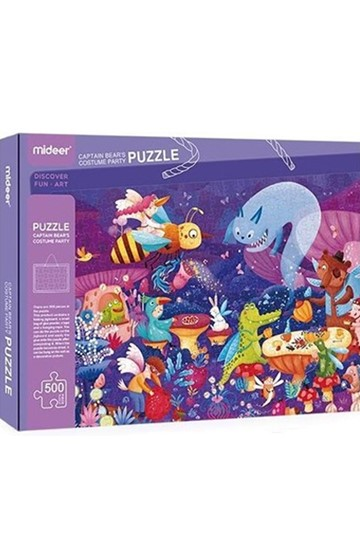 PUZZLE 500ΤΕΜ.MIDEER CAPTAIN BEAR'S COSTUME PARTY ΜΕ ΚΟΛΛΑ GLITTER