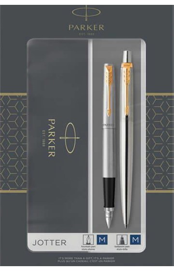 PARKER SET JOTTER CORE (ΠΕΝΑ+ΣΤΥΛΟ) GT STAINLESS STEEL