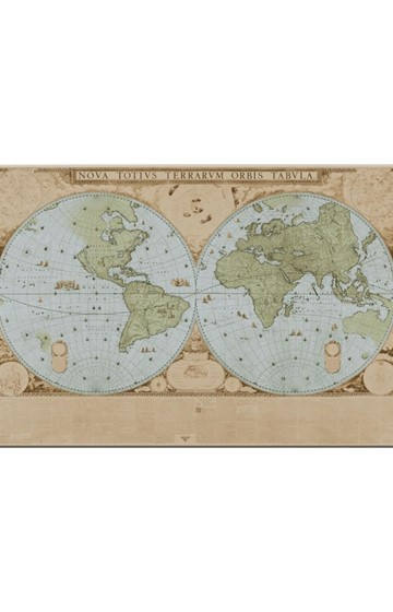 ΣΟΥΠΛΑ 29*43cm.BB BLAEU-MAP OF THE WORLD